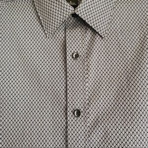 Claiborne Black and White Patterned Button Down